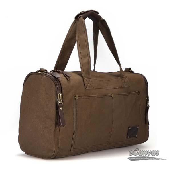 Mens weekend travel bag coffee, black personalized travel bag - E ...