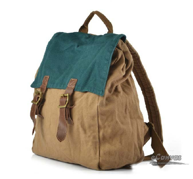 Nice backpack, khaki personalized backpack - E-CanvasBags