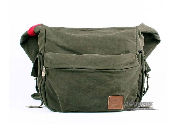 IPAD canvas messenger bag women black, army green college ...