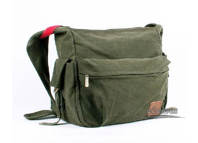 IPAD canvas messenger bag women black, army green college ...