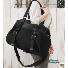 Canvas Messenger overnight bag