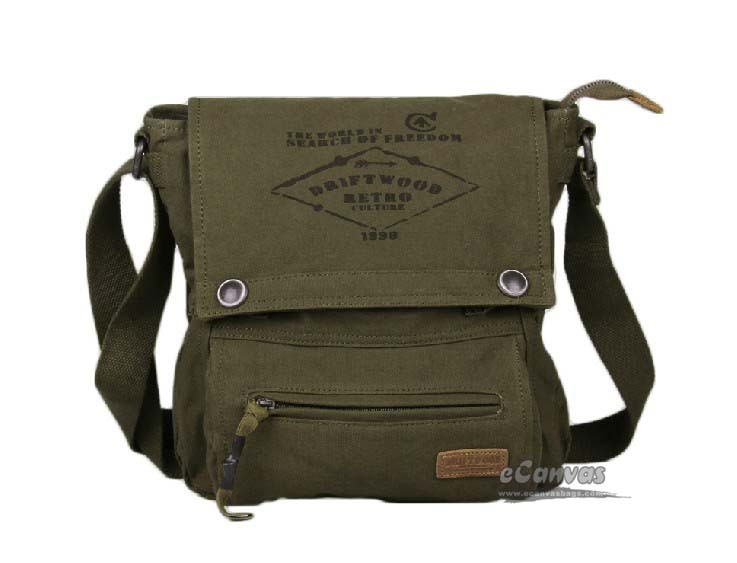 IPAD crossbody messenger bag black, army green eco friendly ...