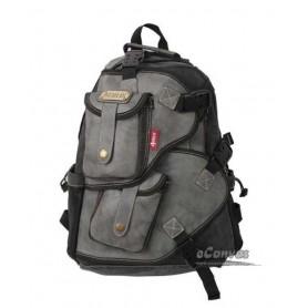 Vintage military laptop backpack black