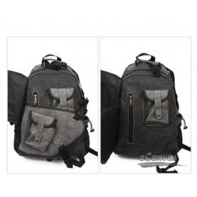 Vintage military laptop backpack bag