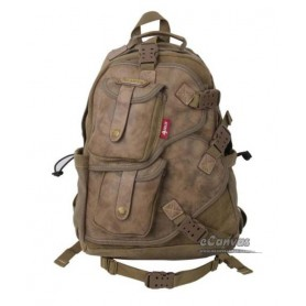 Vintage military laptop backpack khaki