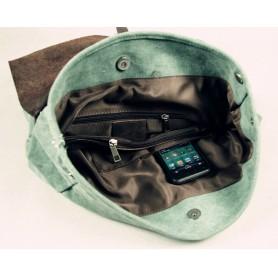 green sturdy backpack