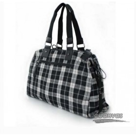 Cotton plaid traveling bag