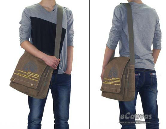 Cheap canvas messenger bag black, coffee cool messenger bag for ...