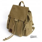 khaki Canvas drawstring bags