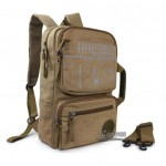 Backpack school black, khaki laptop 15 bag