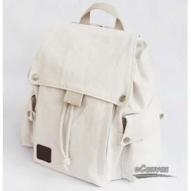 white Canvas drawstring bags