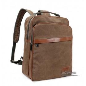 "15"" canvas computer bag coffee, black backpack in school"