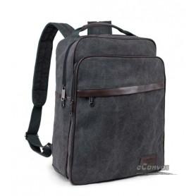 """15"""" canvas computer bag black"""