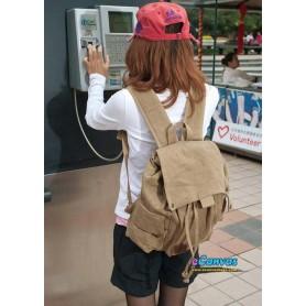 khaki Canvas Backing Bag