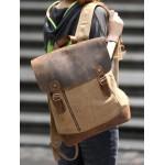 Quality backpack blue, khaki school backpack for girls