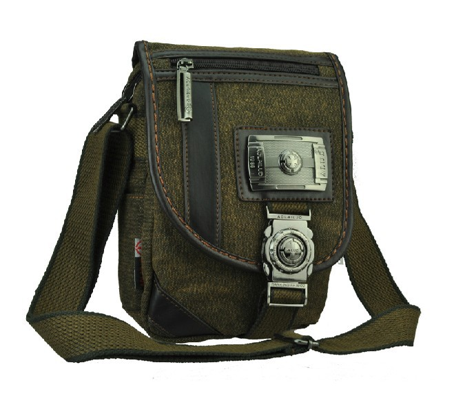Messenger shoulder bag, coffee small canvas messenger bag - E ...
