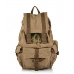 Travel backpack, khaki trendy backpack