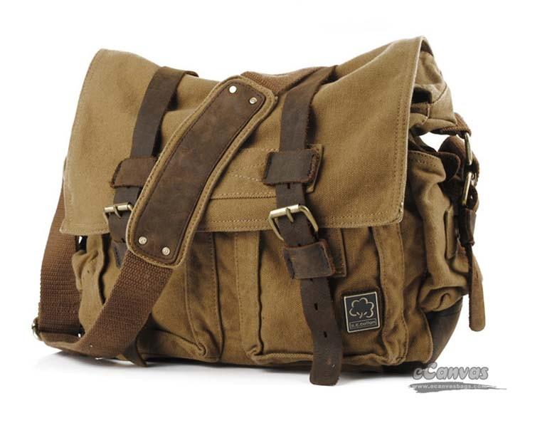 24f4fe74b20b army green canvas messenger shoulder bag · khaki canvas messenger shoulder  bag ...