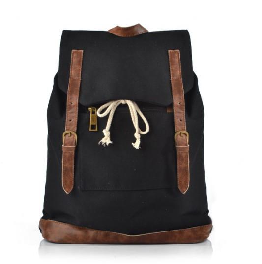 Womens backpack black blue teenage girl backpack e canvasbags
