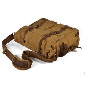 khaki mens messenger bag