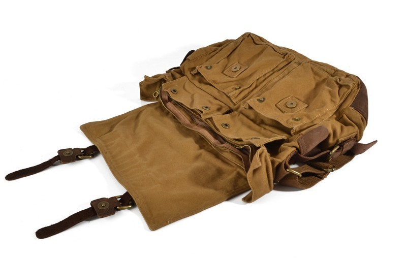 Large messenger bags for men khaki, mens messenger bag - E-CanvasBags