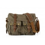 Khaki messenger bag, army green man messenger bag