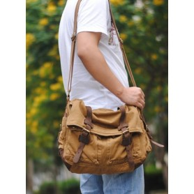 canvas man messenger bag