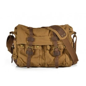 mens Khaki messenger bag