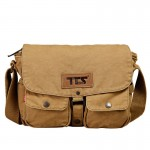 Funky messenger bag, khaki high end messenger bag