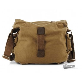 Perfect canvas messenger shoulder bag khaki