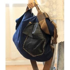 blue Messenger bag for college student