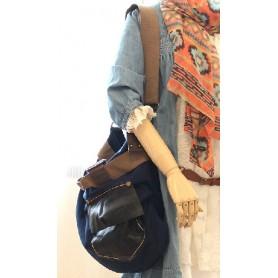 blue shoulder messenger bag