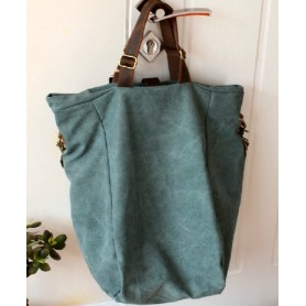 green tote canvas bag