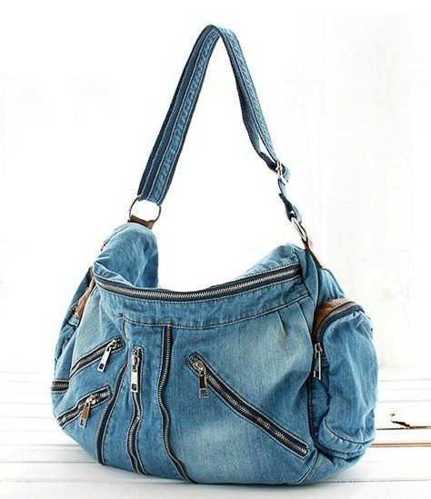 Blue jean purse, cute bag for school