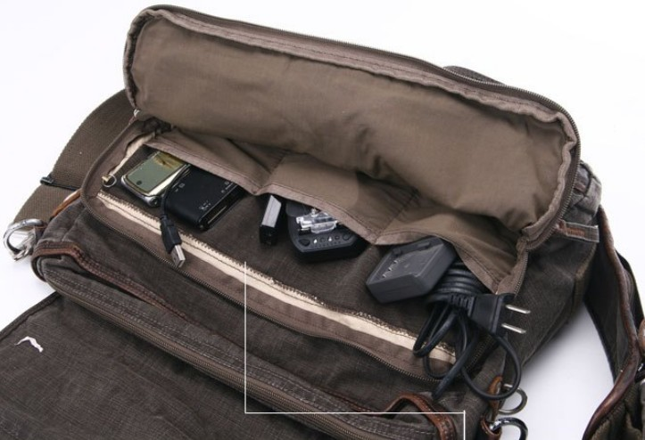 Messenger bag for men canvas, messenger book bag - E-CanvasBags