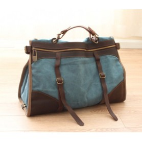blue travel tote for women