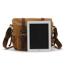 canvas messenger shoulder laptop bag
