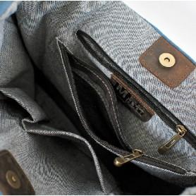 blue ladies shoulder bag