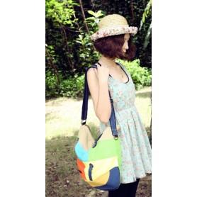 yellow Canvas satchel messenger bag