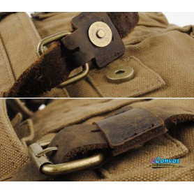 canvas messenger shoulder bag beautiful strong hardware