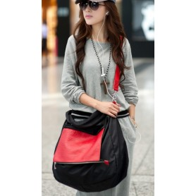 nylon leather shoulder bag