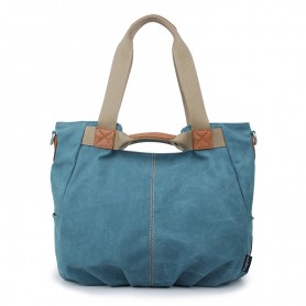 Canvas zipper bag, Shoulder Bags, stylish handbag, blue & grey