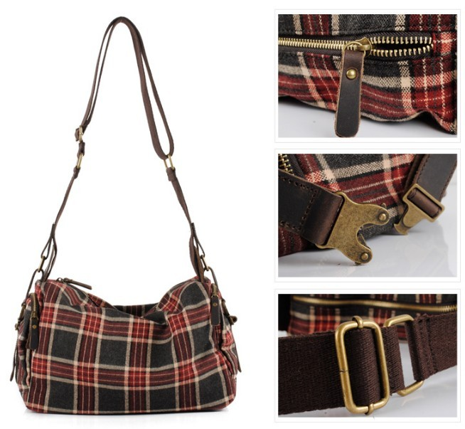 Courier bag for women, cute messenger bag - E-CanvasBags