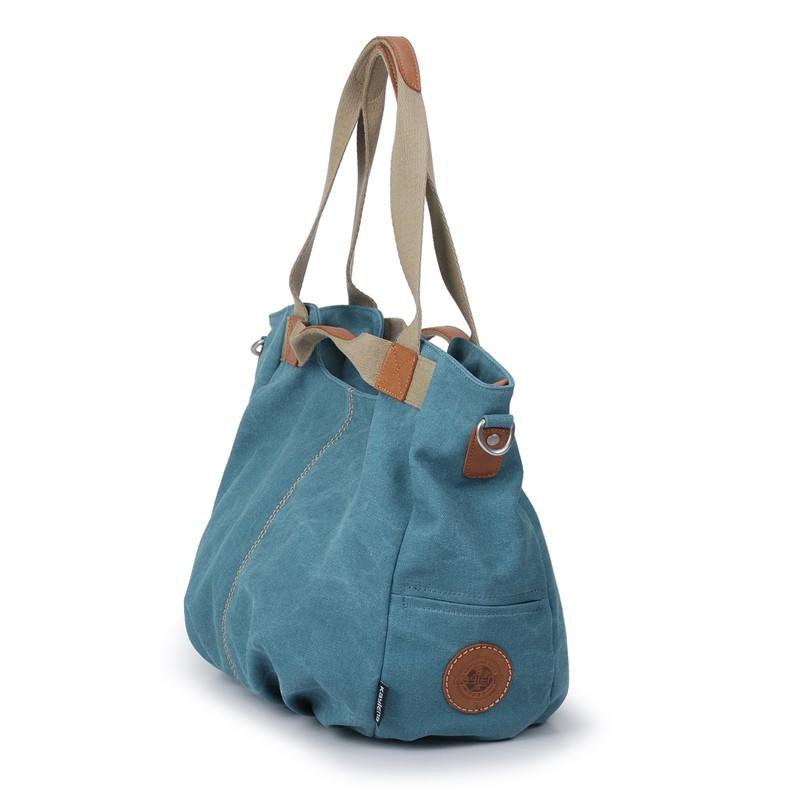 adaa349f0649 Canvas zipper bag · Blue Shoulder Bags ...
