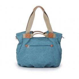 Blue Canvas zipper bag