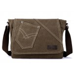 Travel document bag, canvas messenger bag