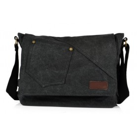 black Travel document bag