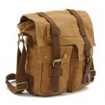 Canvas messenger bag for men, canvas shoulder bag for men