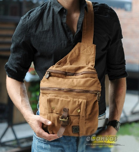 Tri-Shaped sling bag, strap pack - E-CanvasBags