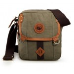 Mens canvas shoulder bag, cotton canvas messenger bag